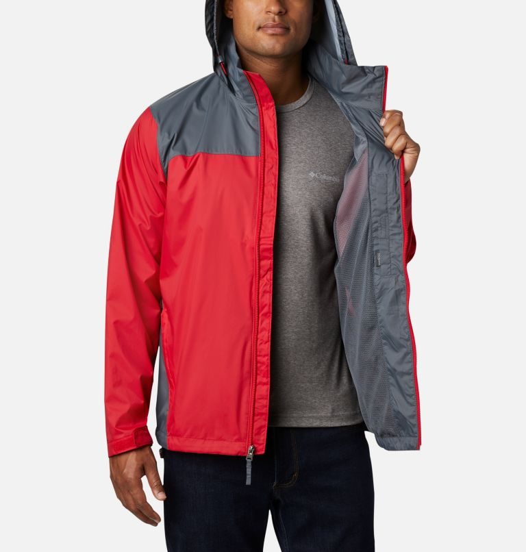 Glennaker Lake™ Rain Jacket   613   L Men's Glennaker Lake™ Rain Jacket, Mountain Red, Graphite, a3