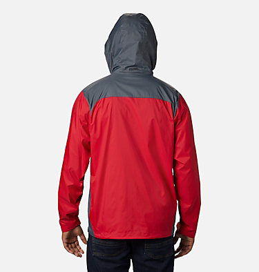 Men's Glennaker Lake™ Rain Jacket Glennaker Lake™ Rain Jacket | 820 | XL, Mountain Red, Graphite, back