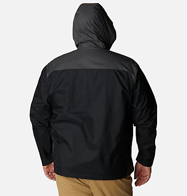 Men's Glennaker Lake™ Rain Jacket - Big Glennaker Lake™ Rain Jacket | 820 | 4X, Black, Grill, back