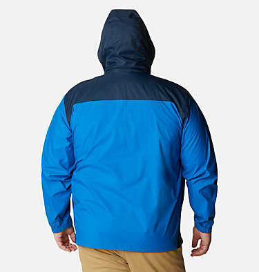 Men's Glennaker Lake™ Rain Jacket - Big Glennaker Lake™ Rain Jacket | 820 | 4X, Blue Jay, Columbia Navy, back