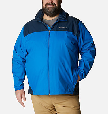 Men's Glennaker Lake™ Rain Jacket - Big Glennaker Lake™ Rain Jacket | 820 | 4X, Blue Jay, Columbia Navy, front