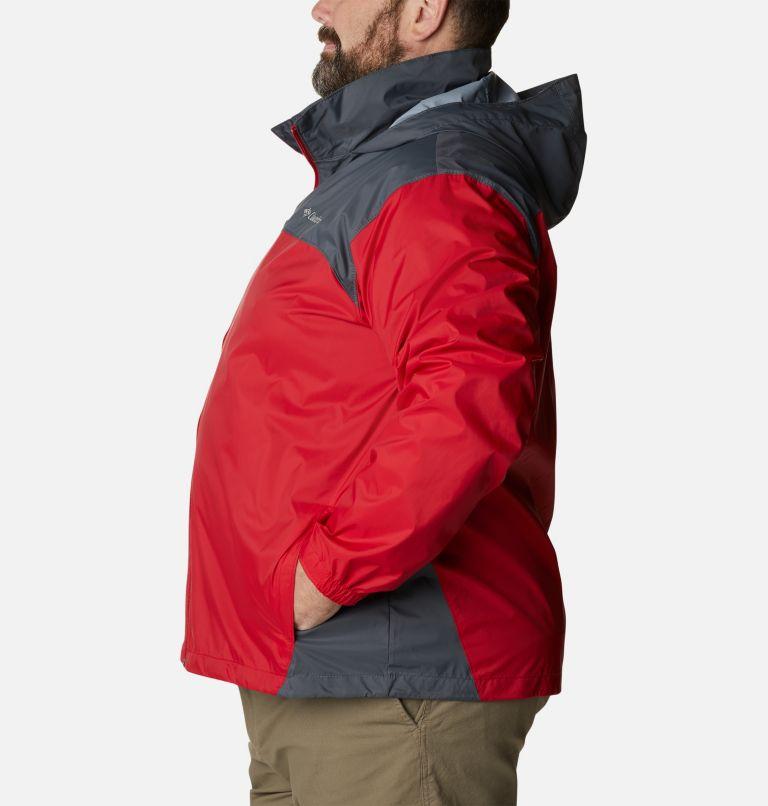 Glennaker Lake™ Rain Jacket | 613 | 5X Men's Glennaker Lake™ Rain Jacket - Big, Mountain Red, Graphite, a1