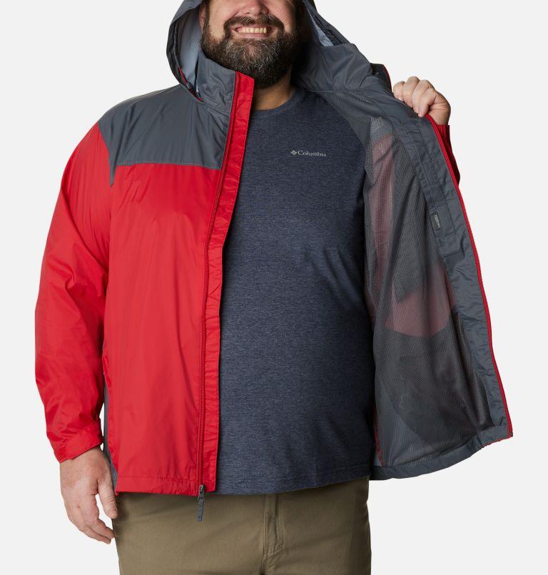 Glennaker Lake™ Rain Jacket | 613 | 5X Men's Glennaker Lake™ Rain Jacket - Big, Mountain Red, Graphite, a3