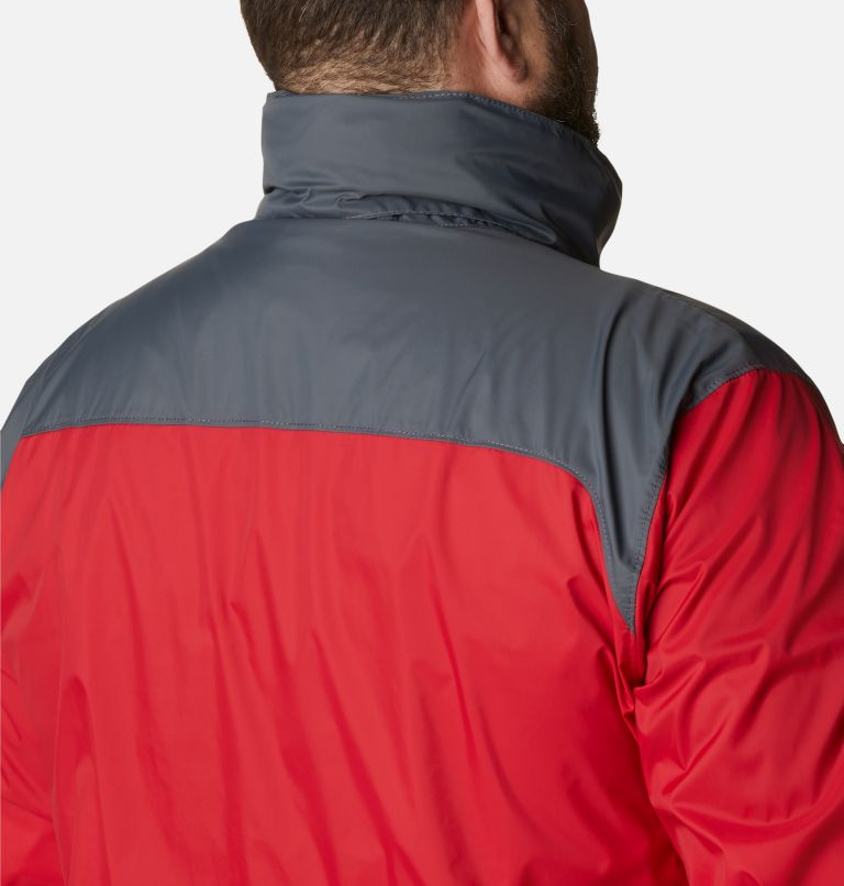 Glennaker Lake™ Rain Jacket | 613 | 5X Men's Glennaker Lake™ Rain Jacket - Big, Mountain Red, Graphite, a4