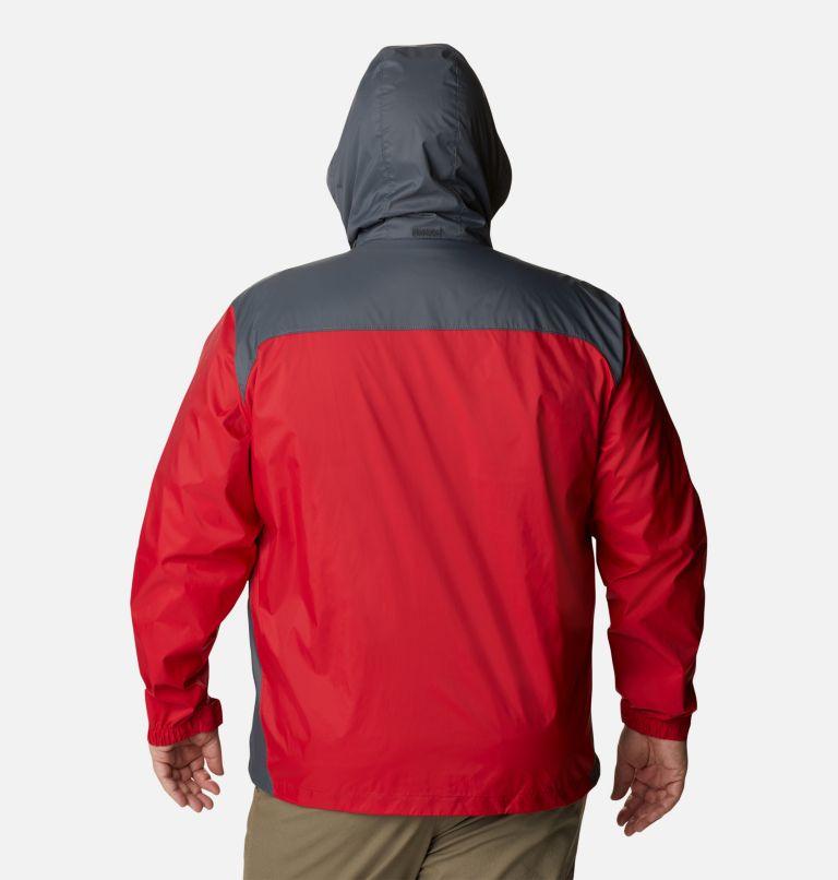 Glennaker Lake™ Rain Jacket | 613 | 5X Men's Glennaker Lake™ Rain Jacket - Big, Mountain Red, Graphite, back