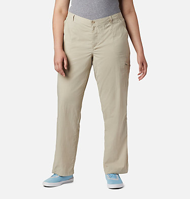 Women's PFG Aruba™ Roll Up Pants - Plus Size Aruba™ Roll Up Pant | 031 | 16W, Fossil, front