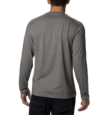 Men's Thistletown Park™ Long Sleeve Crew Neck Shirt Thistletown Park™ Long Sleeve Crew | 467 | XXL, Charcoal Heather, back