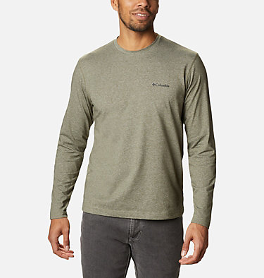 Men's Thistletown Park™ Long Sleeve Crew Neck Shirt Thistletown Park™ Long Sleeve Crew | 467 | XXL, Stone Green Heather, front