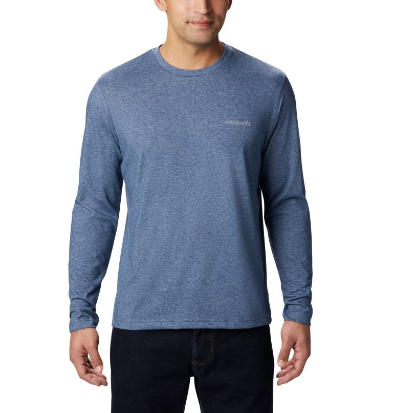 Thistletown Park™ Long Sleeve Crew | 478 | XXL Men's Thistletown Park™ Long Sleeve Crew Neck Shirt, Dark Mountain Heather, front