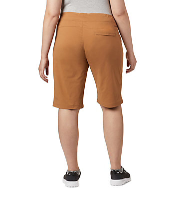 Women's Anytime Outdoor™ Long  Shorts - Plus Size Anytime Outdoor™ Long Short | 249 | 16W, Light Elk, back