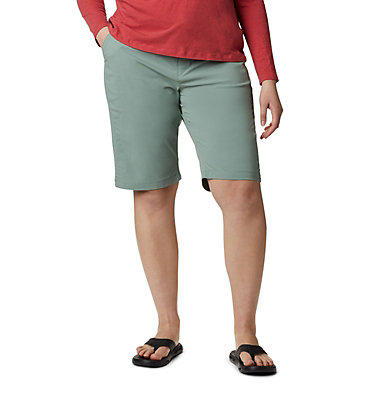 Women's Anytime Outdoor™ Long  Shorts - Plus Size Anytime Outdoor™ Long Short | 249 | 18W, Light Lichen, front