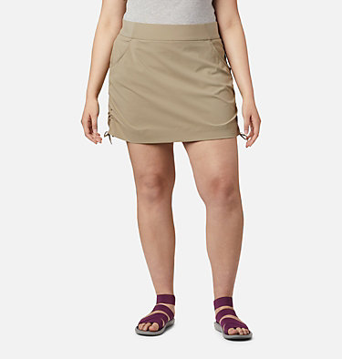 Women's Anytime Casual™ Skort – Plus Size Anytime Casual™ Skort | 671 | 1X, Tusk, front