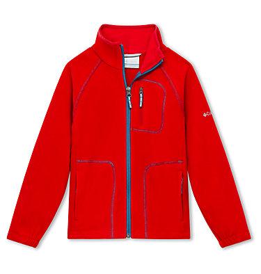 Fast Trek™ II Fleecejacke Junior Fast Trek™ II Full Zip | 623 | S, Mountain Red, Blue Heron, front