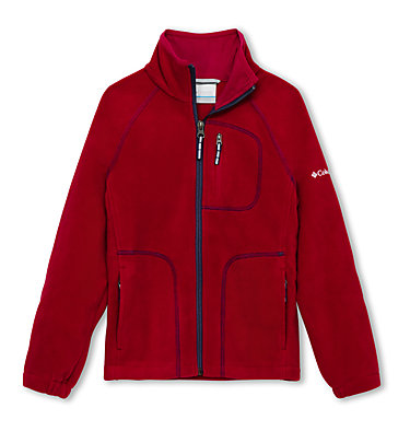 Fleece Fast Trek™ II Full Zip da ragazzo Fast Trek™ II Full Zip | 445 | L, Pomegranate, Nocturnal, front