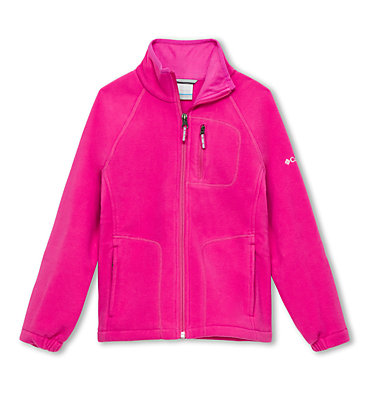 Youth Fast Trek™ II Full Zip Fleece Fast Trek™ II Full Zip | 623 | S, Pink Ice, front