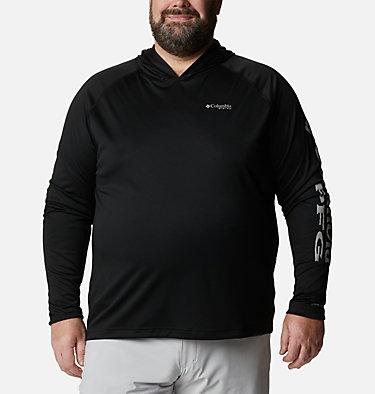 Men's PFG Terminal Tackle™ Hoodie - Big Terminal Tackle™ Hoodie | 470 | 1X, Black, Cool Grey Logo, front
