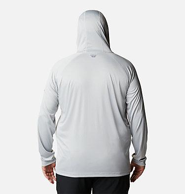 Men's PFG Terminal Tackle™ Hoodie - Big Terminal Tackle™ Hoodie | 470 | 1X, Cool Grey, Vivid Blue Logo, back