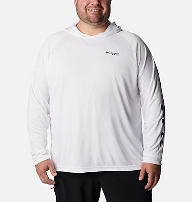 Men's PFG Terminal Tackle™ Hoodie - Big Terminal Tackle™ Hoodie   455   1X, White, Nightshade Logo, front