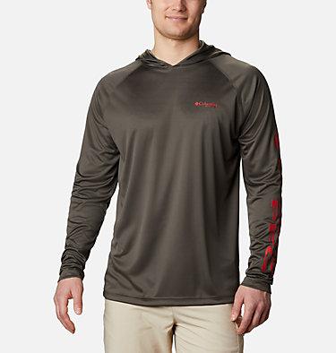 Men's PFG Terminal Tackle™ Hoodie - Big Terminal Tackle™ Hoodie   455   1X, Alpine Tundra, Red Spark Logo, front