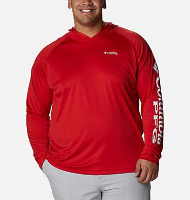 Men's PFG Terminal Tackle™ Hoodie - Big Terminal Tackle™ Hoodie   455   1X, Red Spark, White Logo, front