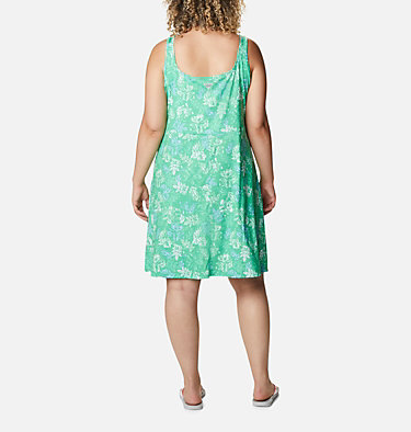 Women's PFG Freezer™ III Dress - Plus Size Freezer™ III Dress | 658 | 1X, Emerald City Archive Palms Print, back
