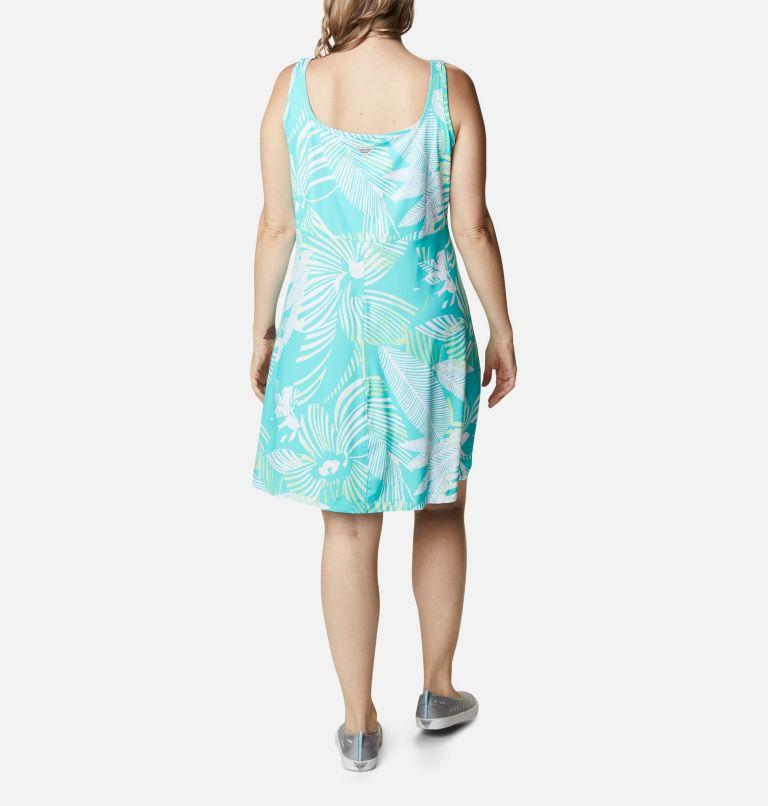 Freezer™ III Dress | 364 | 2X Women's PFG Freezer™ III Dress - Plus Size, Dolphin Stencil Hibiscus Print, back