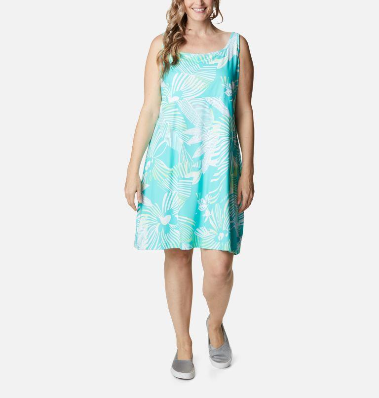 Freezer™ III Dress | 364 | 2X Women's PFG Freezer™ III Dress - Plus Size, Dolphin Stencil Hibiscus Print, front