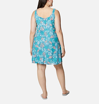 Women's PFG Freezer™ III Dress - Plus Size Freezer™ III Dress | 658 | 1X, Shasta Archive Palms Print, back