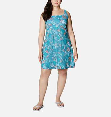 Women's PFG Freezer™ III Dress - Plus Size Freezer™ III Dress | 658 | 1X, Shasta Archive Palms Print, front
