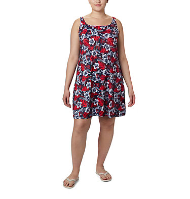 Women's PFG Freezer™ III Dress - Plus Size Freezer™ III Dress | 658 | 1X, Collegiate Navy Vacay Vibes Print, front