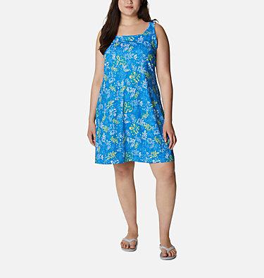 Women's PFG Freezer™ III Dress - Plus Size Freezer™ III Dress | 658 | 1X, Azure Blue Archive Palms Print, front