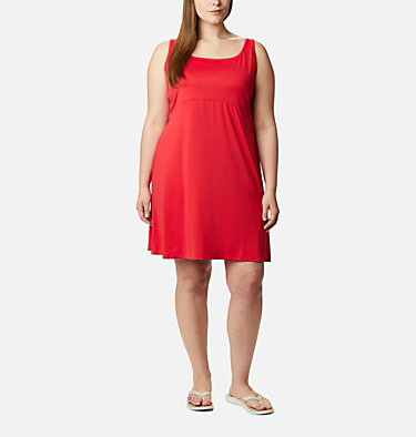 Women's PFG Freezer™ III Dress - Plus Size Freezer™ III Dress | 658 | 1X, Red Lily, front