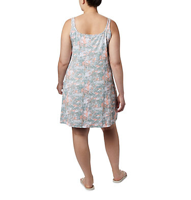 Women's PFG Freezer™ III Dress - Plus Size Freezer™ III Dress | 658 | 1X, Tiki Pink Waterbrush Print, back