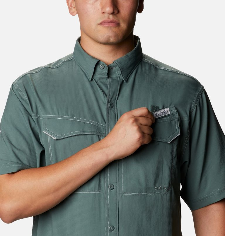 Low Drag Offshore™ SS Shirt | 967 | 4X Men's PFG Low Drag Offshore™ Short Sleeve Shirt - Big, Pond, a2