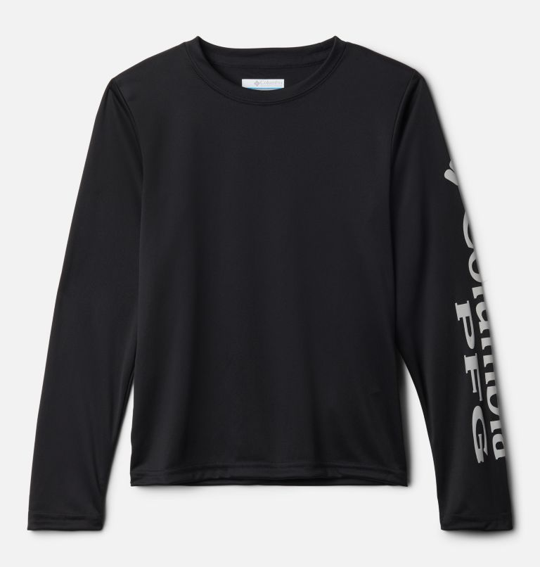 Terminal Tackle™ Long Sleeve Tee | 012 | S Kids' PFG Terminal Tackle™ Long Sleeve Tee, Black, front