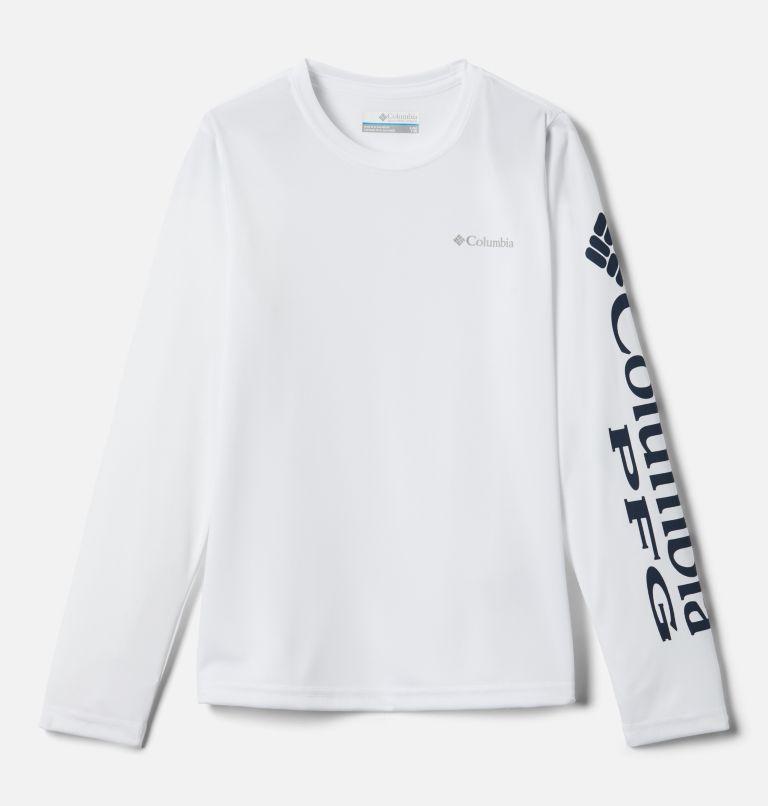 Terminal Tackle™ Long Sleeve Tee | 100 | XL Kids' PFG Terminal Tackle™ Long Sleeve Tee, White, front