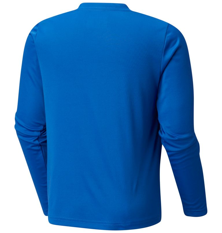 Terminal Tackle™ Long Sleeve Tee | 488 | M Kids' PFG Terminal Tackle™ Long Sleeve Tee, Vivid Blue, Cool Grey, back