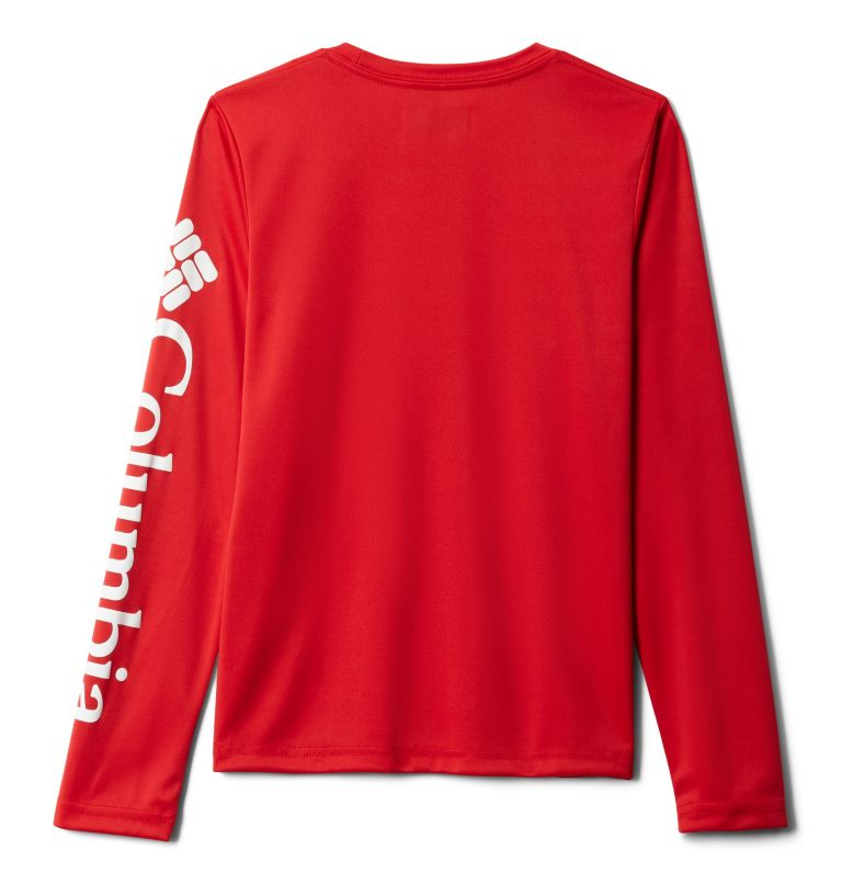 Terminal Tackle™ Long Sleeve Tee | 696 | L Kids' PFG Terminal Tackle™ Long Sleeve Tee, Red Spark, back