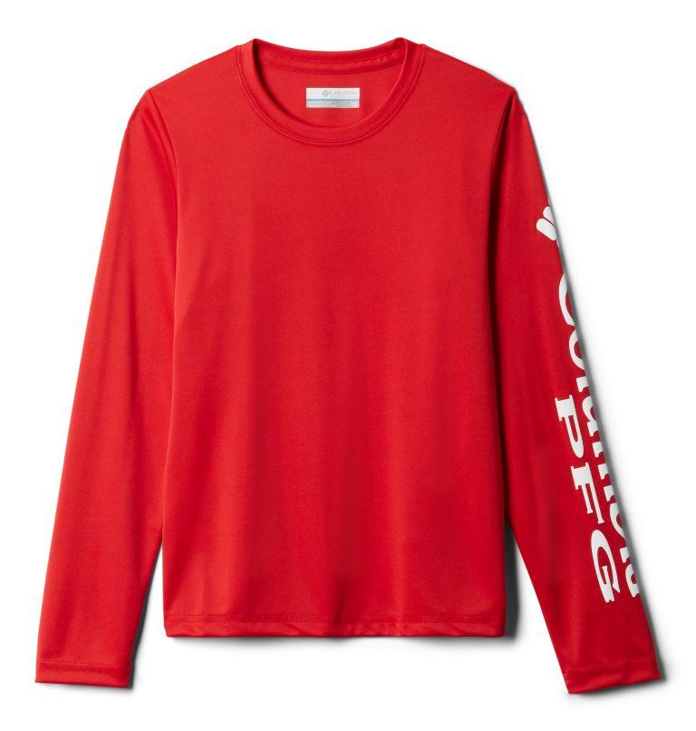 Terminal Tackle™ Long Sleeve Tee | 696 | L Kids' PFG Terminal Tackle™ Long Sleeve Tee, Red Spark, front