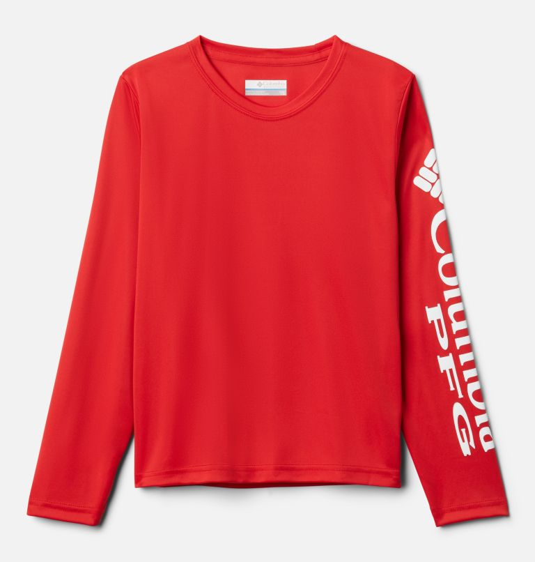 Terminal Tackle™ Long Sleeve Tee | 697 | M Kids' PFG Terminal Tackle™ Long Sleeve Tee, Red Spark, front