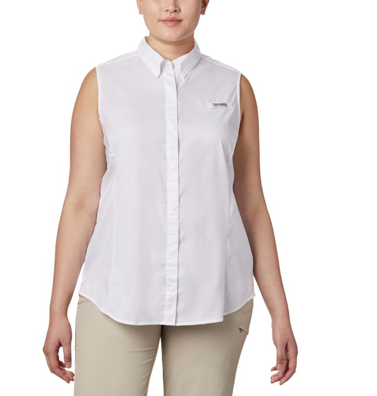 Women's PFG Tamiami™ Sleeveless Shirt - Plus Size Women's PFG Tamiami™ Sleeveless Shirt - Plus Size, front