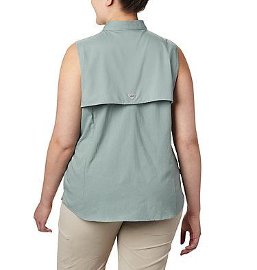 Women's PFG Tamiami™ Sleeveless Shirt - Plus Size Tamiami™ Women's Sleeveless Shirt | 305 | 2X, Light Lichen, back