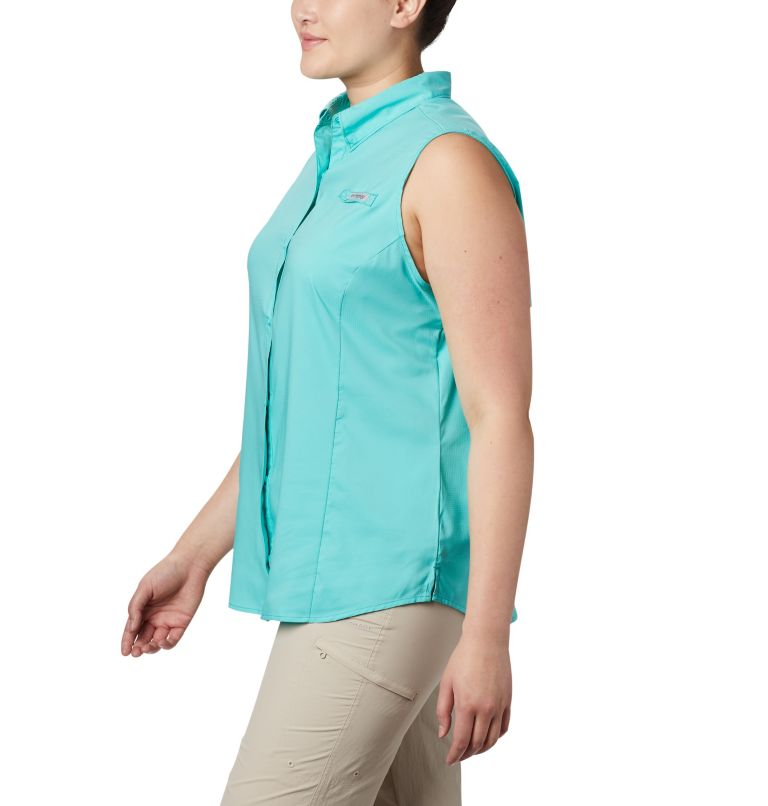 Tamiami™ Women's Sleeveless Shirt | 356 | 1X Women's PFG Tamiami™ Sleeveless Shirt - Plus Size, Dolphin, a1