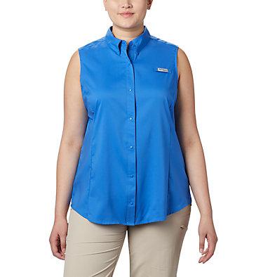 Women's PFG Tamiami™ Sleeveless Shirt - Plus Size Tamiami™ Women's Sleeveless Shirt | 305 | 2X, Stormy Blue, front