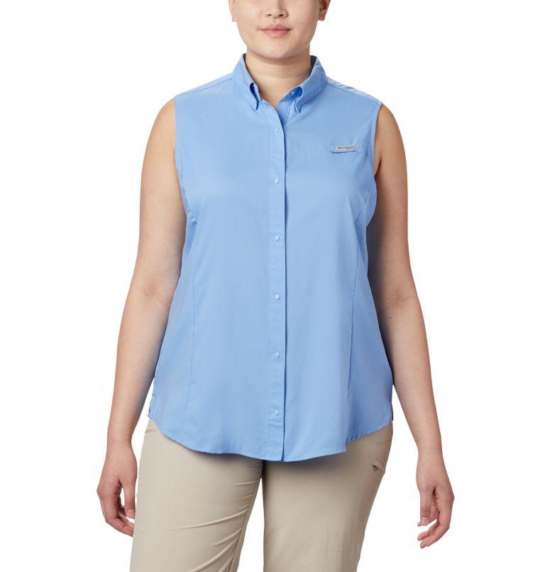Tamiami™ Women's Sleeveless Shirt | 450 | 1X Women's PFG Tamiami™ Sleeveless Shirt - Plus Size, White Cap, front