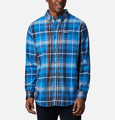 Men's Rapid Rivers™ II Long Sleeve Shirt Rapid Rivers™ II Long Sleeve Shirt | 847 | M, Bright Indigo Oversize Plaid, front