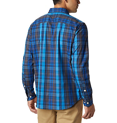 Men's Rapid Rivers™ II Long Sleeve Shirt Rapid Rivers™ II Long Sleeve Shirt | 847 | M, Azure Blue Multi Plaid, back