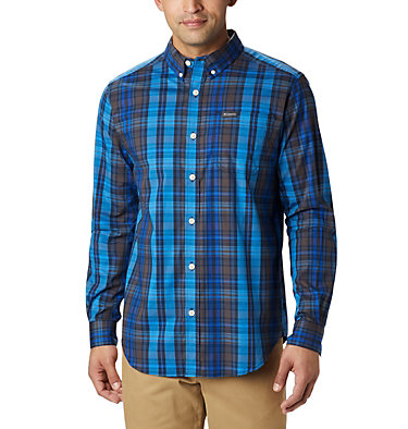 Men's Rapid Rivers™ II Long Sleeve Shirt Rapid Rivers™ II Long Sleeve Shirt | 847 | M, Azure Blue Multi Plaid, front