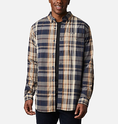 Men's Rapid Rivers™ II Long Sleeve Shirt Rapid Rivers™ II Long Sleeve Shirt | 847 | M, Collegiate Navy Oversize Plaid, front