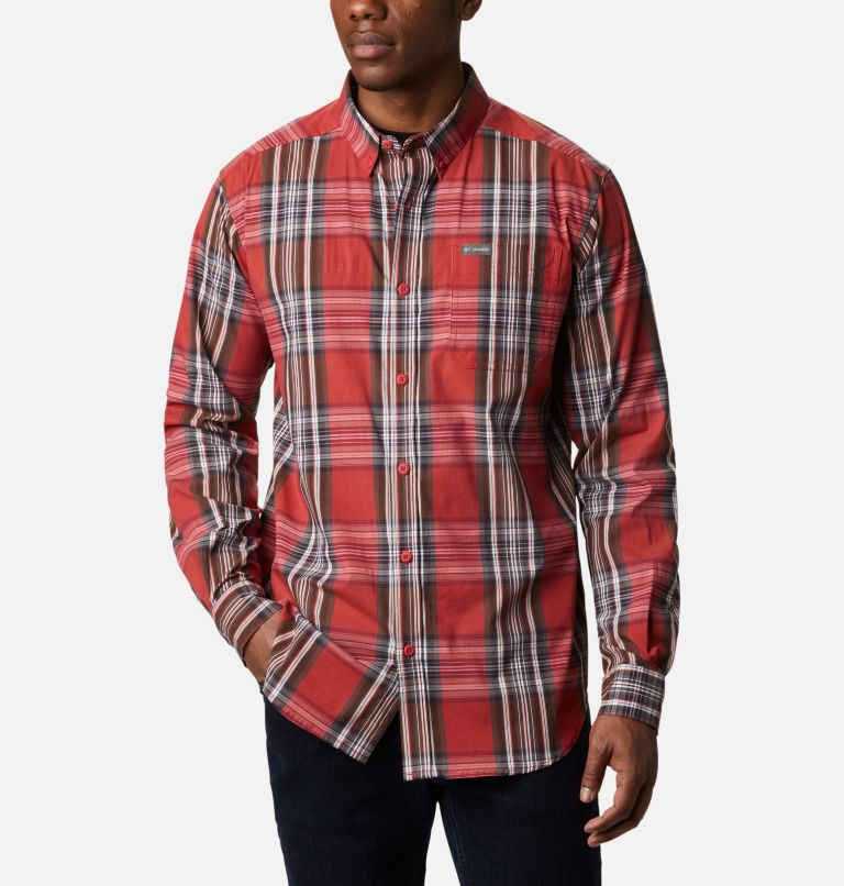 Rapid Rivers™ II Long Sleeve Shirt | 614 | L Men's Rapid Rivers™ II Long Sleeve Shirt, Mountain Red Multi Plaid, front